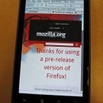 在Nexus One上運行Firefox